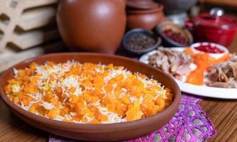 farinha de pilaf de arroz de abóbora