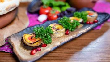 Organic vegetable appetizers