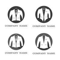 conjunto de logo de esmoquin vector
