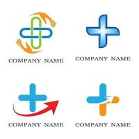 Medical care logo set vector