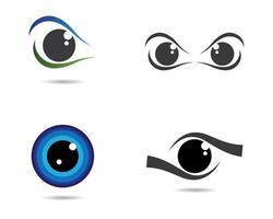 conjunto de símbolos de olho
