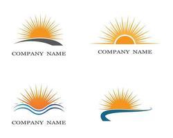 símbolos de sol de verão