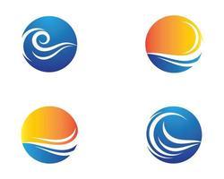 Wave symbol circle icons