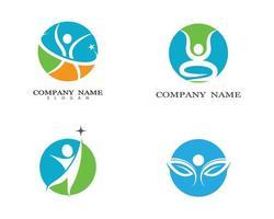 símbolos circulares de salud humana vector