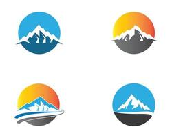 Mountain circular icons