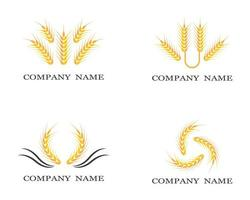 Wheat symbol set vector