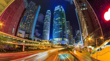 Time Lapse Hong Kong Night Cityscape