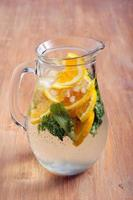 Citrus and mint sparkling water