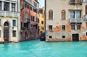 hermosa calle del agua - Venecia, Italia