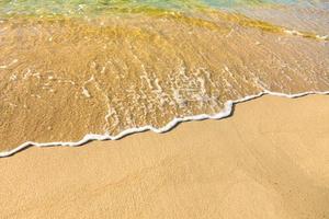 zeewater en zand