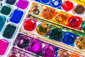 colorful background of water color photo