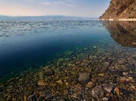 Clean water of Lake Baikal photo