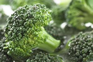 Broccoli In Water Close Up photo