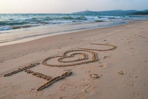 schrijven op het zand