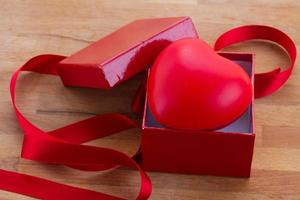 red heart in box for valentines day photo