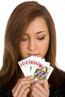 Girl Holding Playing Cards