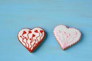 Biscuits with icing sugar photo