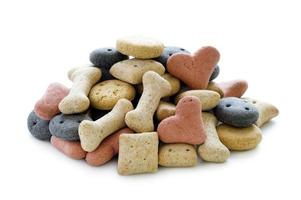 dry dog biscuits isolated photo