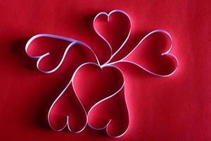 fondo de corazones de papel st. enamorado