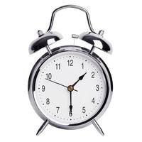 el despertador muestra la mitad del segundo