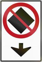 no hay mercancías peligrosas en este carril en Canadá