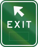 Exit Sign With Space In Australia