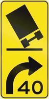 Tilting Truck - Advisory Speed in Australia