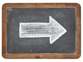 white arrow on blackboard