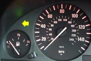 Speedometer and turn light arrow photo