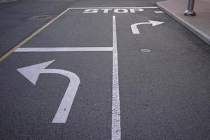 Choice of turn arrow signs photo