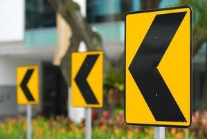 Traffic road signs - left arrows