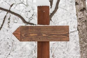 Vintage wooden road sign
