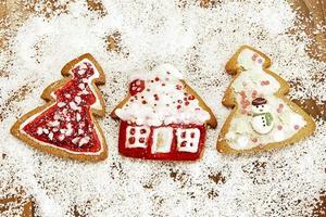 decorações de Natal de gengibre.
