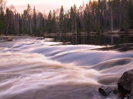 Rapid flow of water