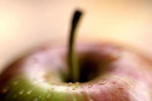 gotas de agua de manzana foto