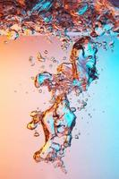 Bubbles in water photo