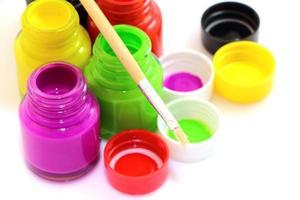 pintura de color de agua foto