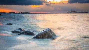 Beach and water photo