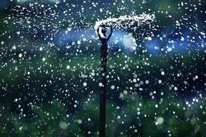 water sprinkler as abstract background