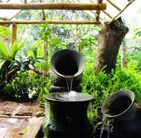 goteando agua en el jardín