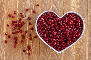 semillas de granada orgánica fresca