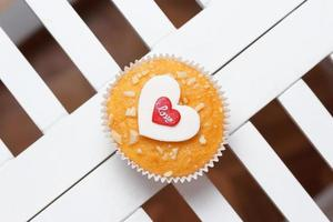 muffin de san valentín foto