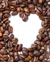 Coffee beans in the shape of a heart photo