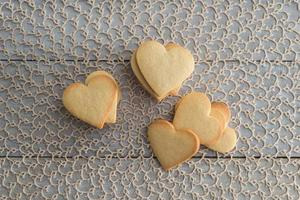 Heart shaped valentine's butter cookies