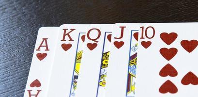 internet casino poker royal flush cards combination hearts photo