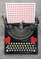 Old typewriter with love heart