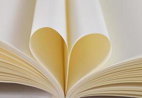 heart from a book page photo