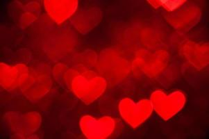 red heart shape holiday background photo