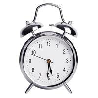 reloj despertador redondo de metal