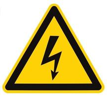 Danger Electrical Hazard High Voltage Sign Isolated Macro Triangle Signage